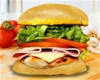 16. Chicken Cordon Bleu Burger