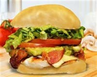 13. Chicken Club Burger
